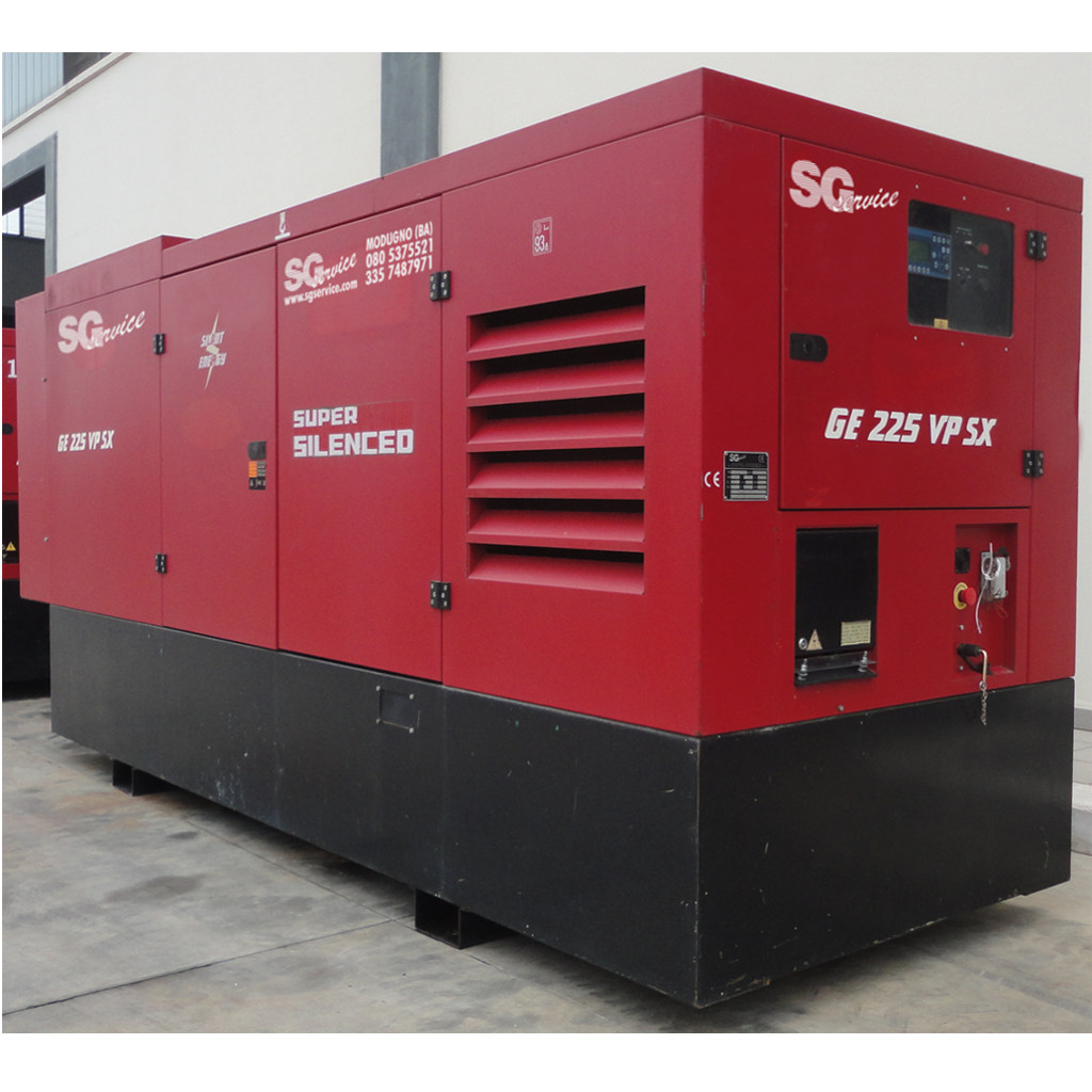 SGE225VPSX/EAS - GRUPPO ELETTROGENO  205KVA TRIFASE  1500RPM DIESEL   SUPERSILE