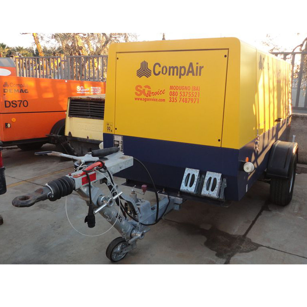 MOTOCOMPRESSORE COMPAIR C95-12 9500 LT/MIN 12 BAR SILENZIATO CARRELLATO C/FRENI