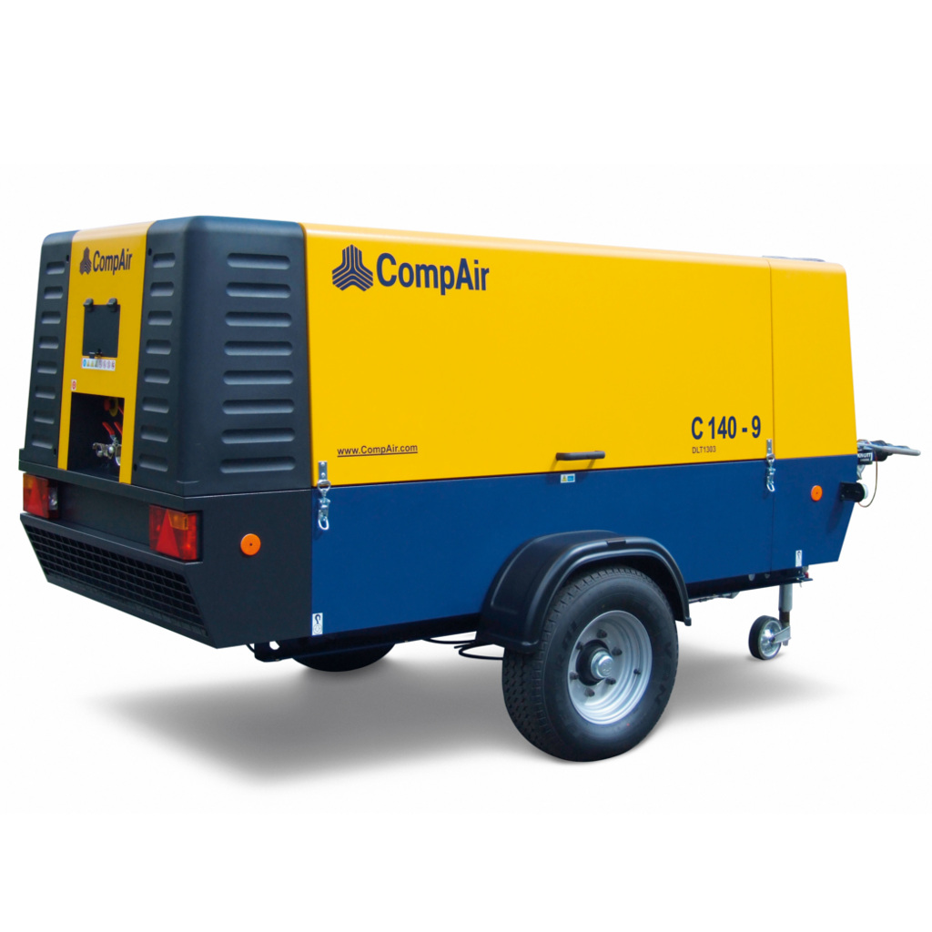 C140-9 - MOTOCOMPRESSORE COMPAIR C140-9 13300 LT/MIN 8,6 BAR SILENZIATO CARREL. C/FRENI