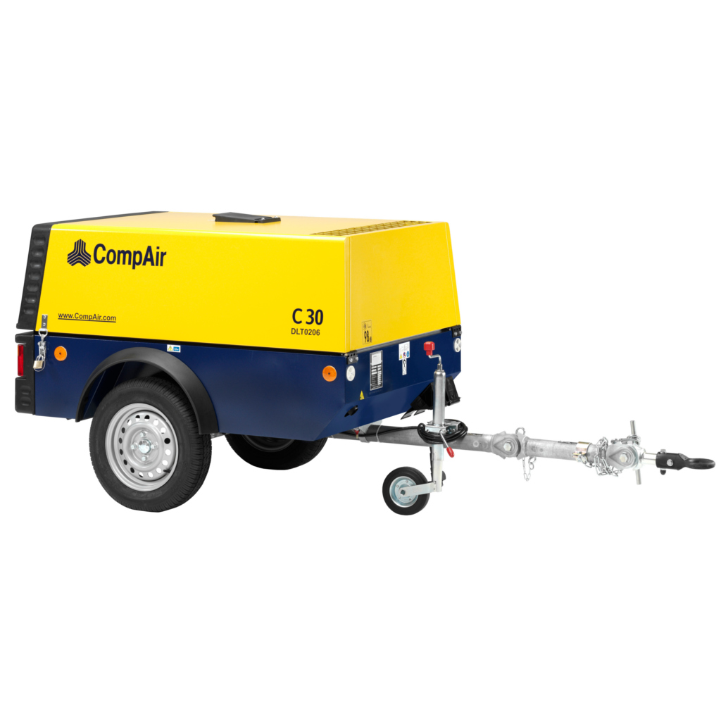 C30 - MOTOCOMPRESSORE COMPAIR C30 3000 LT/MIN 7 BAR SILENZIATO CARRELLATO NON FRENATO